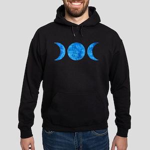 Distressed Moon Symbol Hoodie (dark)