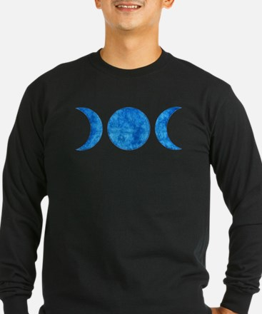 Distressed Moon Symbol Long Sleeve T-Shirt