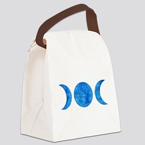 Distressed Moon Symbol Canvas Lunch Bag