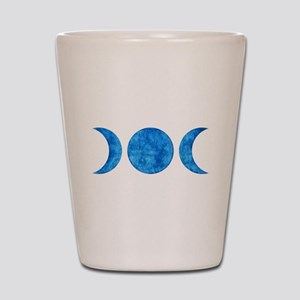 Distressed Moon Symbol Shot Glass