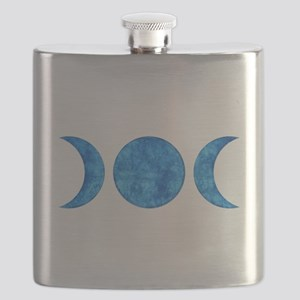 Distressed Moon Symbol Flask