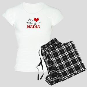 My heart belongs to Nadia Women's Light Pajamas