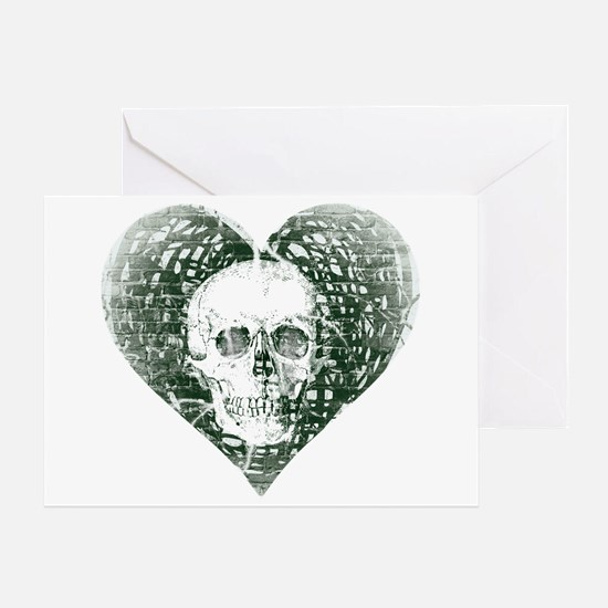 Spectral Skull Greeting Cards