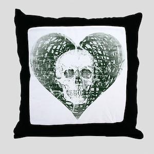Spectral Skull Throw Pillow