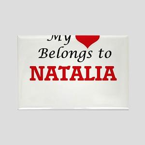 My heart belongs to Natalia Magnets