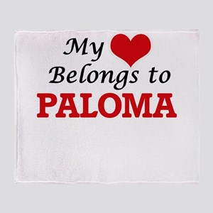 My heart belongs to Paloma Throw Blanket