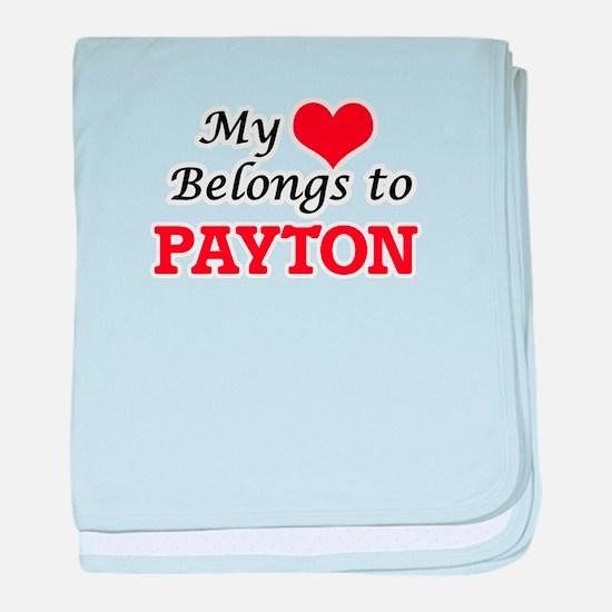 My heart belongs to Payton baby blanket