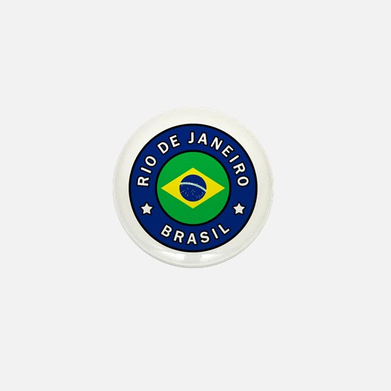 Funny Brazil flag Mini Button