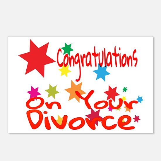 Cute Divorce Postcards (Package of 8)