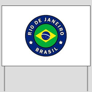 Rio de Janeiro Brasil Yard Sign