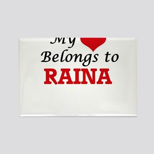 My heart belongs to Raina Magnets