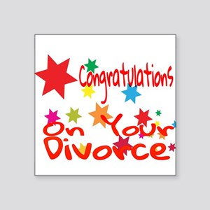 Congratulations On Your Divorce Sticker