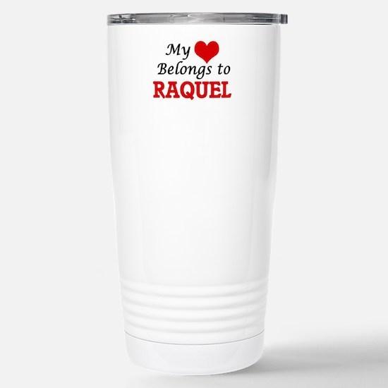 My heart belongs to Raq Stainless Steel Travel Mug