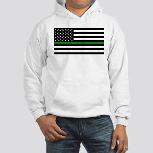 U.S. Flag: The Thin Green Line Hooded Sweatshirt