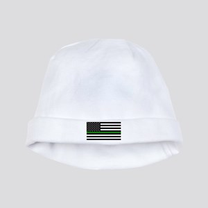 U.S. Flag: The Thin Green Line baby hat