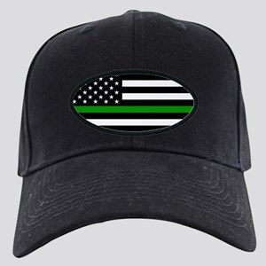 U.S. Flag: The Thin Green Line Black Cap