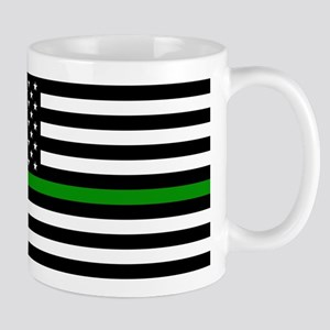 U.S. Flag: The Thin Green Line Mug