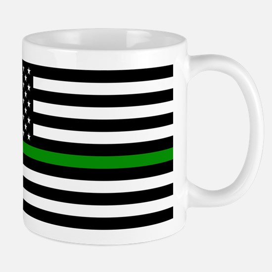 U.S. Flag: The Thin Green Line Mug