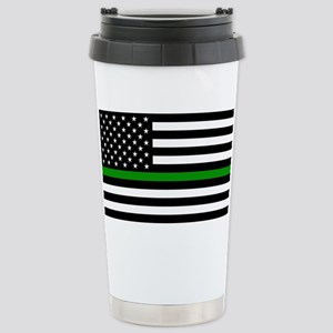U.S. Flag: The Thin Gre Stainless Steel Travel Mug
