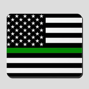 U.S. Flag: The Thin Green Line Mousepad