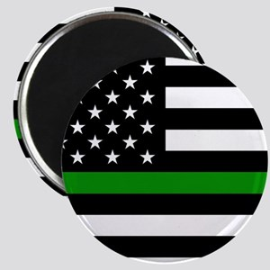 U.S. Flag: The Thin Green Line Magnet