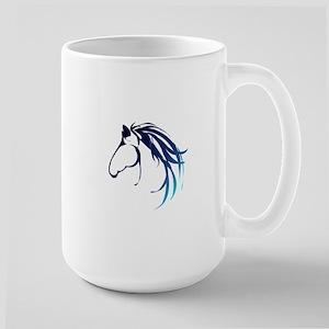 Classic Blue Horse Head Logo Mugs