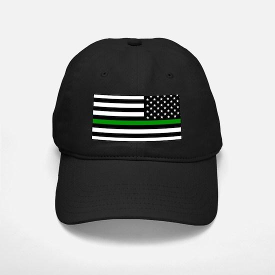 U.S. Flag: The Thin Green Line (Reverse) Baseball Hat