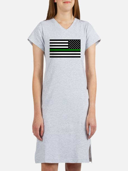U.S. Flag: The Thin Green Line Women's Nightshirt