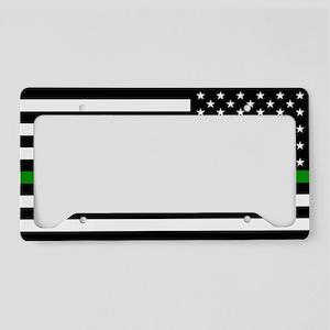 U.S. Flag: The Thin Green Lin License Plate Holder