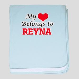 My heart belongs to Reyna baby blanket