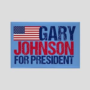 Gary Johnson Rectangle Magnet