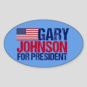 Gary Johnson Sticker (Oval)