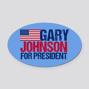 Gary Johnson Oval Car Magnet