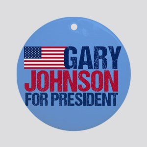 Gary Johnson Round Ornament