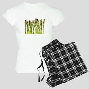 green asparagus vegetable Women's Light Pajamas