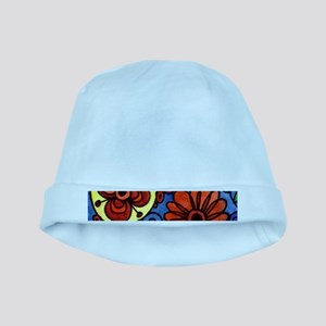 Abstract Colorful Flowers baby hat