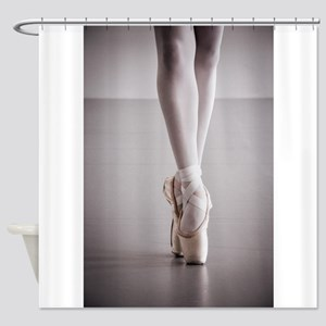 Ballet Dancer Legs in Pointe Shoes Shower Curtain