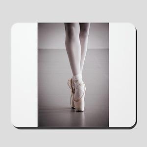 Ballet Dancer Legs in Pointe Shoes Mousepad