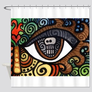 Skull Eye Shower Curtain