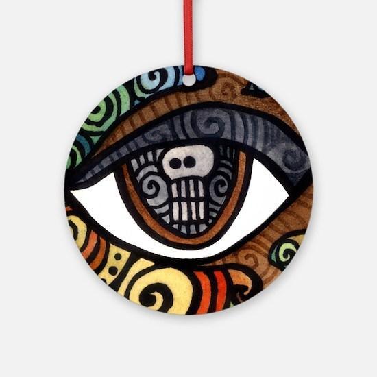 Skull Eye Round Ornament