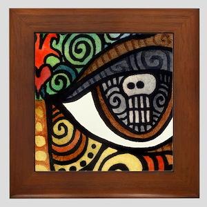 Skull Eye Framed Tile