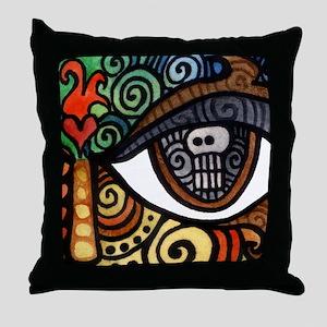 Skull Eye Throw Pillow