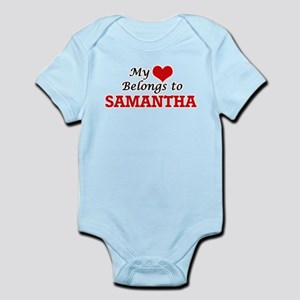 My heart belongs to Samantha Body Suit