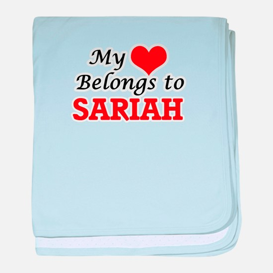 My heart belongs to Sariah baby blanket