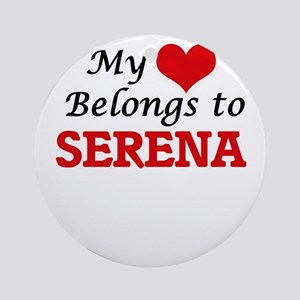 My heart belongs to Serena Round Ornament