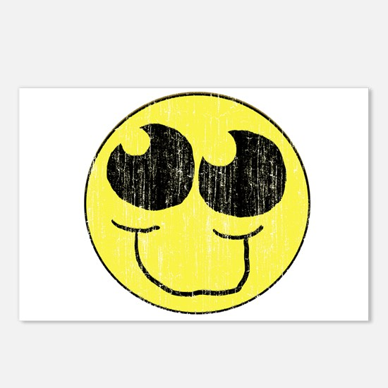Vintage Happy Smiley Face Postcards (Package of 8)