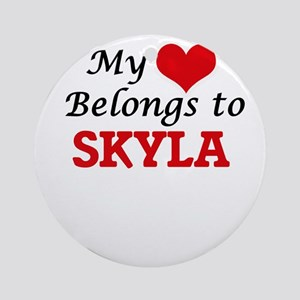 My heart belongs to Skyla Round Ornament