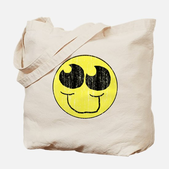 Vintage Happy Smiley Face Tote Bag