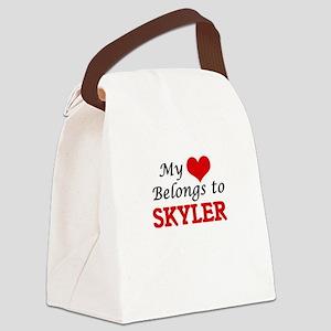 My heart belongs to Skyler Canvas Lunch Bag