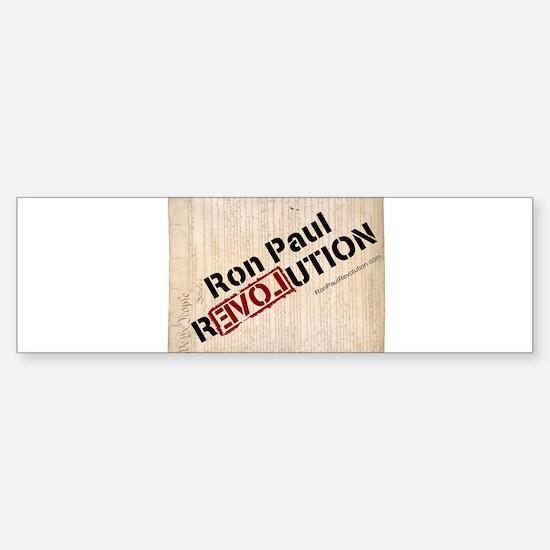 Ron Paul Constitution VERTICAL Bumper Bumper Bumper Sticker
